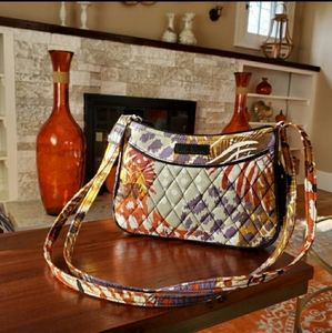 Vera Bradley Painted Feathers Little Crossbody
